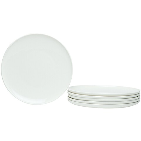 Red Vanilla Everytime White Coupe 8.5-inch Salad Plates (Set of 6)