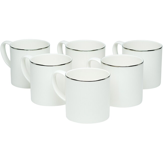 Red Vanilla Spin Platinum Coffee Mugs (Set of 6)