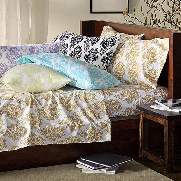 Somerset Printed King/ Cal King-size Microfiber Sheet Set