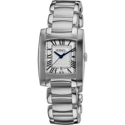 Ebel Women's 'Brasilia' Silver Dial Stainless Steel Quartz Watch