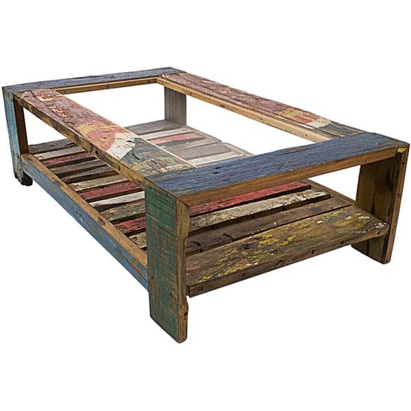 Ecologica Handmade Wood/ Glass Coffee Table
