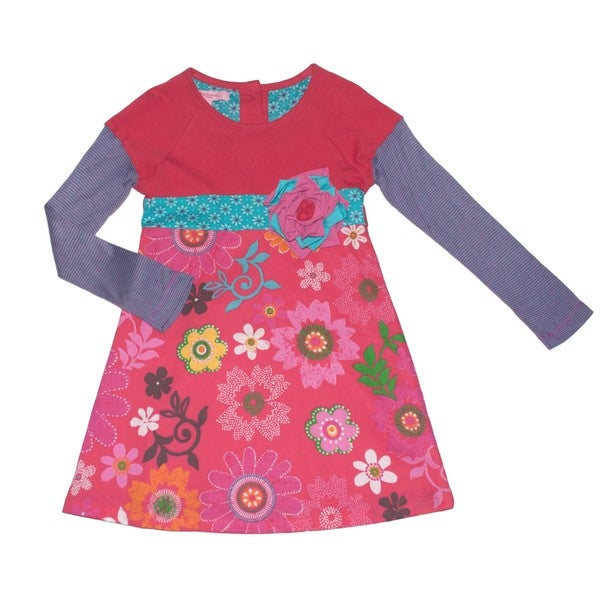 Beetlejuice London Girls A Line Novelty Big Rosette Detail Dress