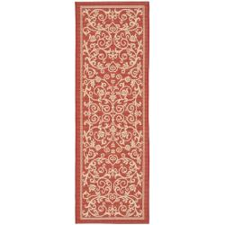 Safavieh Indoor Outdoor Red/ Natural