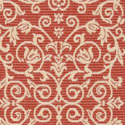 Safavieh Resorts Scrollwork Red/ Natural Indoor/ Outdoor Runner Rug (2'4 x 9'11) - Thumbnail 2