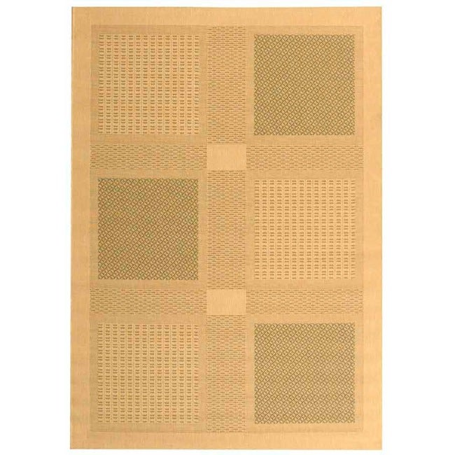 Safavieh Lakeview Natural/ Olive Green Indoor/ Outdoor Rug - 9' x 12'