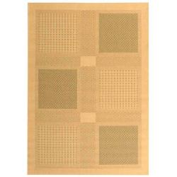 Safavieh Natural/ Olive Indoor Outdoor Rug (9' x 12')