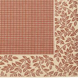 Safavieh Courtyard Red/ Natural Indoor/ Outdoor Rug (7'10 Square) - Thumbnail 1