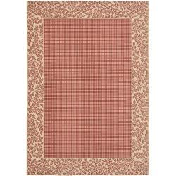 "Safavieh Red/Natural Indoor/Outdoor Geometric Rug (5'3"" x 7'7"")"