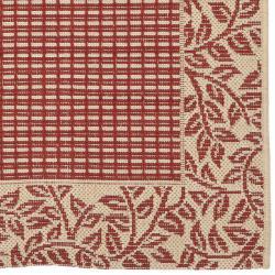 Safavieh Courtyard Red/ Natural Indoor/ Outdoor Rug (2'4 x 6'7) - Thumbnail 1
