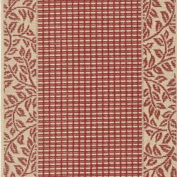 Safavieh Courtyard Red/ Natural Indoor/ Outdoor Rug (2'4 x 6'7) - Thumbnail 2