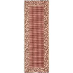 Safavieh Red/ Natural Indoor Outdoor Rug (2'4 x 6'7)