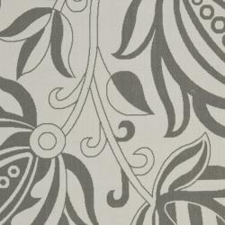 Safavieh Courtyard Bloom Light Grey/ Anthracite Indoor/ Outdoor Rug (4' x 5'7) - Thumbnail 2
