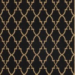 Safavieh Courtyard Trellis All-Weather Black/ Beige Indoor/ Outdoor Rug (2'7 x 8'2) - Thumbnail 2