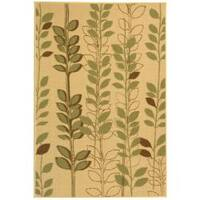 Safavieh Courtyard Foliage Natural/ Olive Green Indoor/ Outdoor Rug - 2'7 x 5'