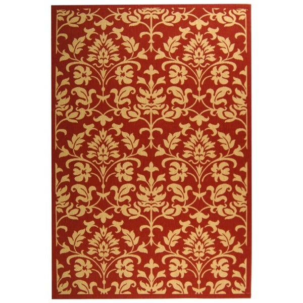 Safavieh Seaview Red/ Natural Indoor/ Outdoor Rug - 9' x 12'