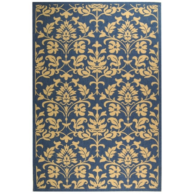 Shop Safavieh Seaview Blue/ Natural Indoor/ Outdoor Rug