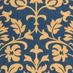 Safavieh Seaview Blue/ Natural Indoor/ Outdoor Rug (9' x 12') - Thumbnail 2