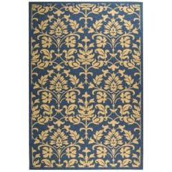 Safavieh Blue/ Natural Indoor Outdoor Rug (9' x 12')