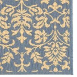 Safavieh Seaview Blue/ Natural Indoor/ Outdoor Rug (2'4 x 9'11) - Thumbnail 1
