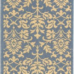 Safavieh Seaview Blue/ Natural Indoor/ Outdoor Rug (2'4 x 9'11) - Thumbnail 2