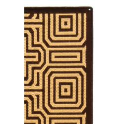 Safavieh Matrix Chocolate/ Natural Indoor/ Outdoor Rug (2'4 x 9'11) - Thumbnail 1