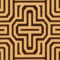 Safavieh Matrix Chocolate/ Natural Indoor/ Outdoor Rug (2'4 x 9'11) - Thumbnail 2