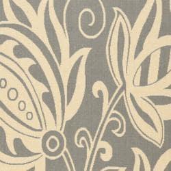 Safavieh Andros Grey/ Natural Indoor/ Outdoor Rug (6'7 x 9'6) - Thumbnail 2