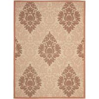 "Safavieh Cream/ Terracotta Indoor Outdoor Rug - 5'3"" x 7'7"""