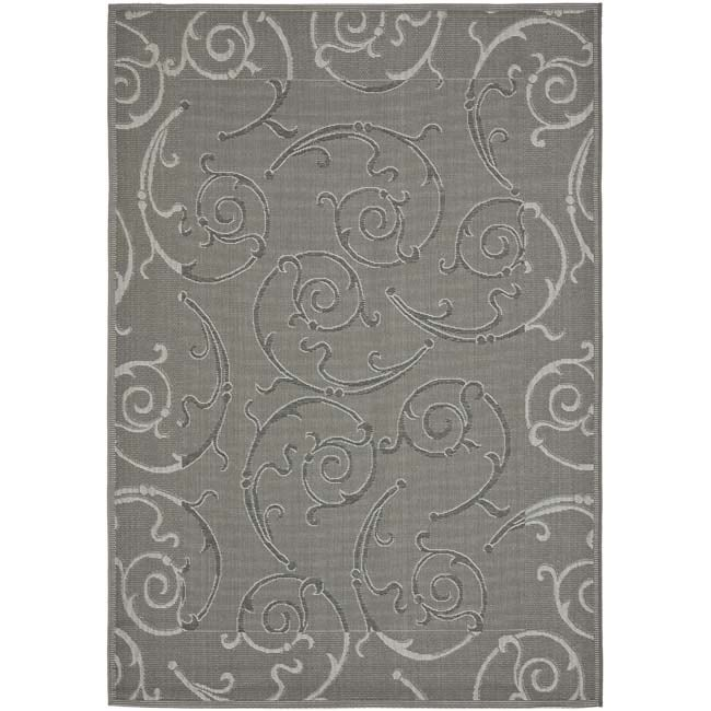 Safavieh Indoor/ Outdoor Dark Gray/ Light Grey Area Rug - 8' x 11'2