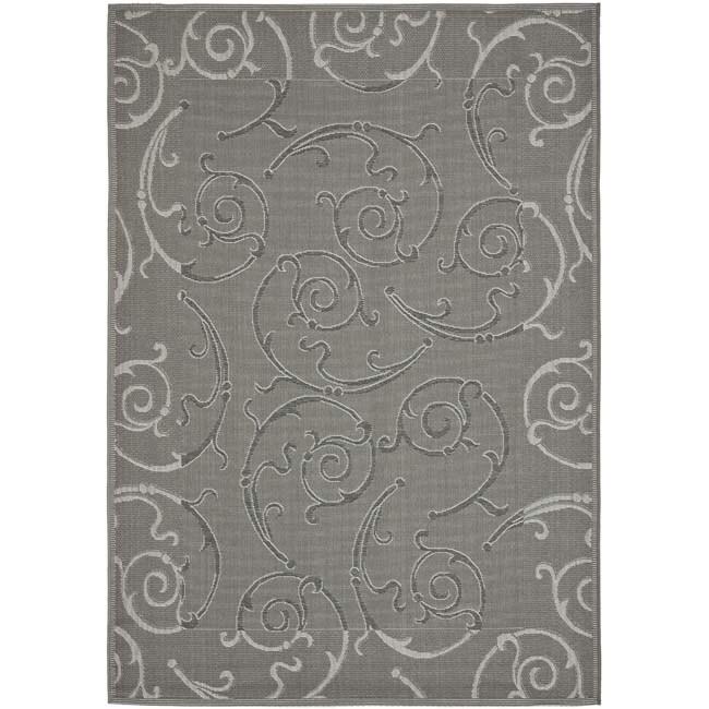 Safavieh Geometric Dark Grey Light Grey Indoor Outdoor