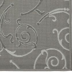 Safavieh Indoor/ Outdoor Dark Gray/ Light Grey Area Rug (4\' x 5\'7 ...