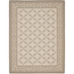 Safavieh Beige/ Dark Beige Indoor Outdoor Rug (8' x 11'2)