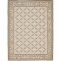 Safavieh Beige/ Dark Beige Indoor Outdoor Rug - 8' X 11'
