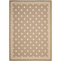 Safavieh Dark Beige/ Beige Indoor Outdoor Polypropylene Rug - 8' X 11'