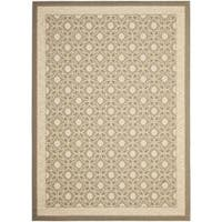 Safavieh Beige/ Beige Indoor Outdoor Rug - 8' x 11'2