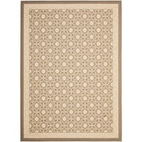 "Safavieh Beige/ Beige Indoor Outdoor Rug - 6'7"" x 9'6"""