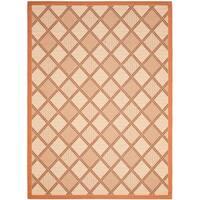 Safavieh Cream/ Terracotta Geometric Indoor Outdoor Rug - 8' X 11'