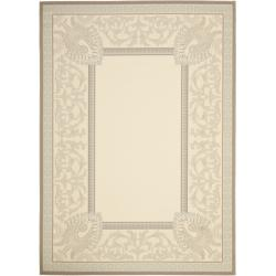 Safavieh Beige/ Dark Beige Indoor Outdoor Area Rug - 8' x 11'2 - Thumbnail 0
