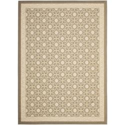 Safavieh Beige/ Beige Indoor Outdoor Rug (5'3 x 7'7)