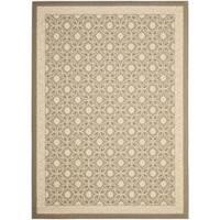 Safavieh Beige/ Beige Indoor Outdoor Rug (5'3 x 7'7) - 5'3 x 7'7