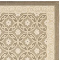Safavieh Beige/ Beige Indoor Outdoor Rug (4' x 5'7)