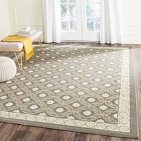Safavieh Dark Grey/ Light Grey Geometric Indoor Outdoor Rug - 8' x 11'2