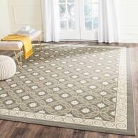 Safavieh Dark Grey/ Light Grey Indoor Geometric Outdoor Rug - 6'7 x 9'6