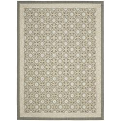 Safavieh Dark Grey/ Light Grey Indoor Outdoor Rug (5'3 x 7'7)