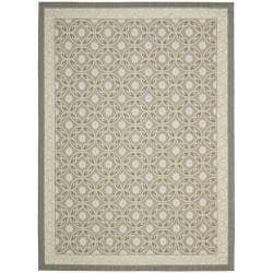 Safavieh Dark Grey/ Light Grey Geometric Indoor Outdoor Rug (4' x 5'7)
