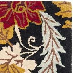 Safavieh Handmade Blossom Black Wool Rug (2' x 3') - Thumbnail 1