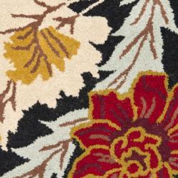 Safavieh Handmade Blossom Black Wool Rug (2' x 3') - Thumbnail 2
