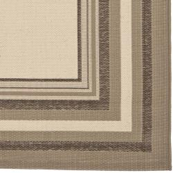 Safavieh Water-resistant Beige/ Dark Beige Indoor Outdoor Rug (8' x 11'2) - Thumbnail 1