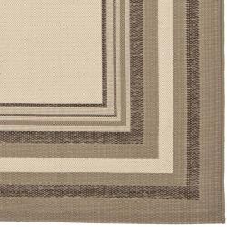 """Safavieh Beige/ Dark-Beige Geometric Indoor/ Outdoor Polypropylene Rug (4' x 5'7"""") - Thumbnail 1"""