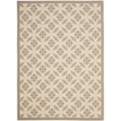 Safavieh Easy-care Beige/ Dark-beige Indoor/ Outdoor Rug (4' x 5'7)